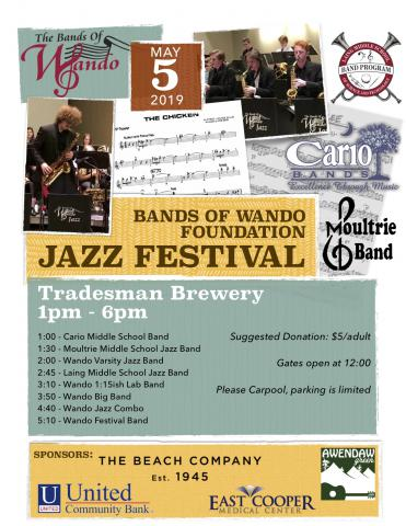 Bands of Wando Foundation Jazz Festival 2019 poster
