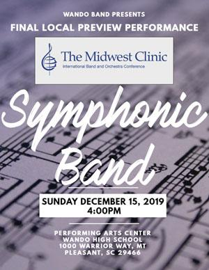 Wando Symphonic Band Midwest Clinic Preview concert poster image